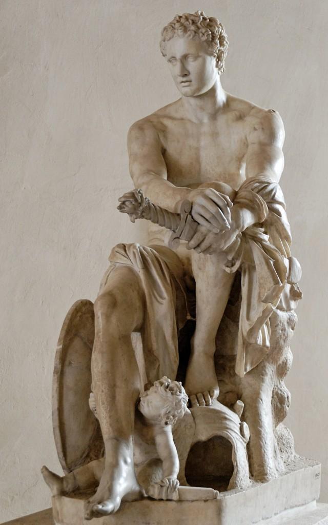Marte de Ludovisi, no Palazzo Altemps, em Roma