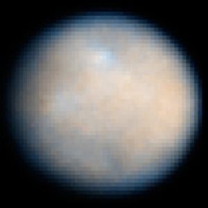 Ceres, fotografado pelo Telescópio Hubble