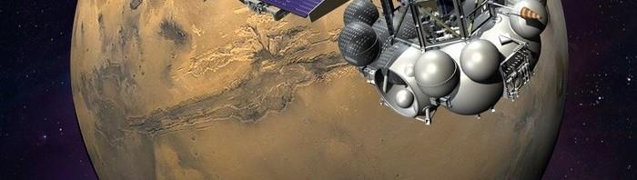Poster russo da missão Phobs-Grunt.