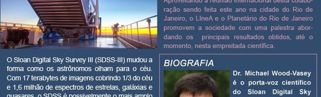 Palestra sobre o SDSS-III no Planetário do Rio [De Planetas Extrassolares à Energia Escura]