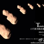 Sequncia de fotos de 4179 Toutatis, pela sonda chinesa Chang&#039;e 2.