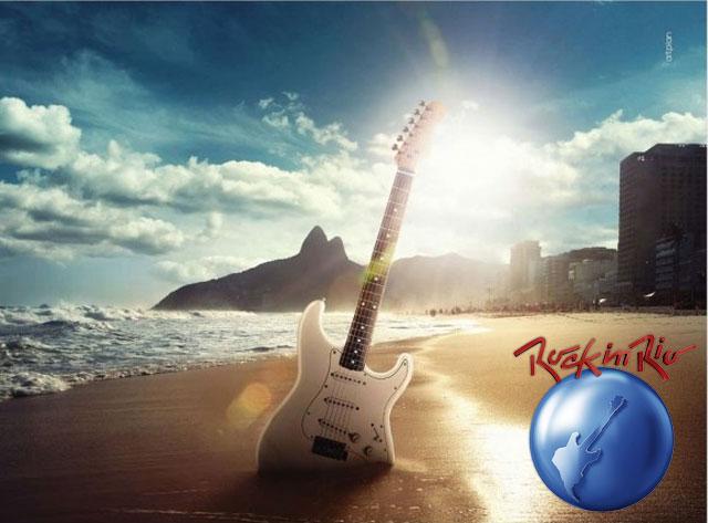 Imagem de divulgação do Rock in Rio. Num dia de sol... obra da Fundação Cacique Cobra Coral?