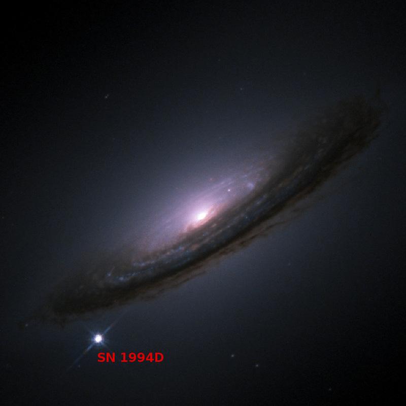 Supernova SN 1994D na galáxia NGC 4526 (Crédito: NASA)