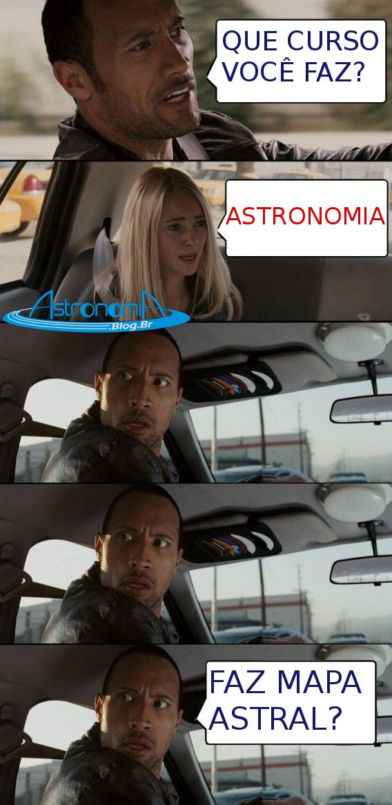 Todo estudante de Astronomia passa por isso.