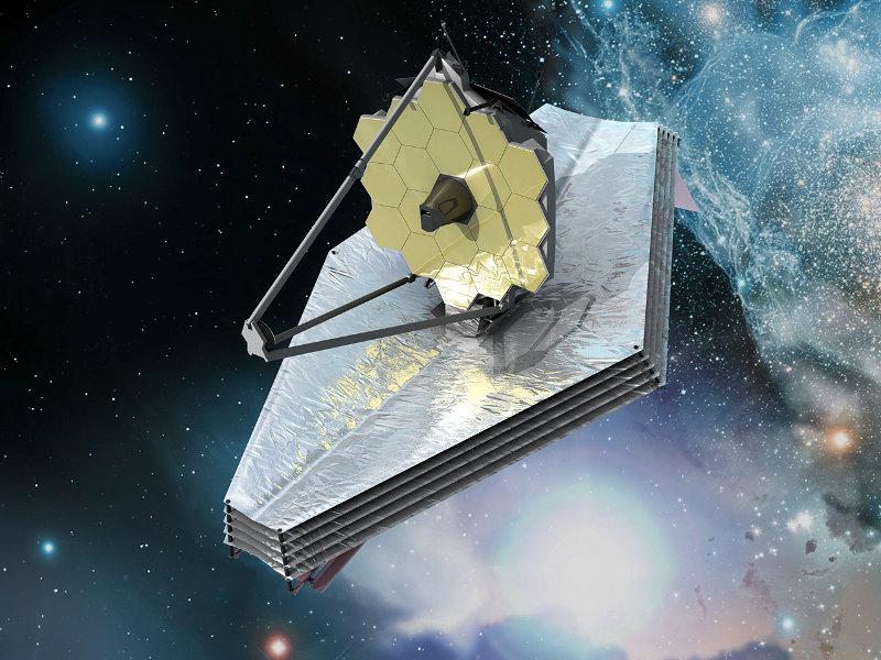 Ilustração do telescópio espacial James Webb