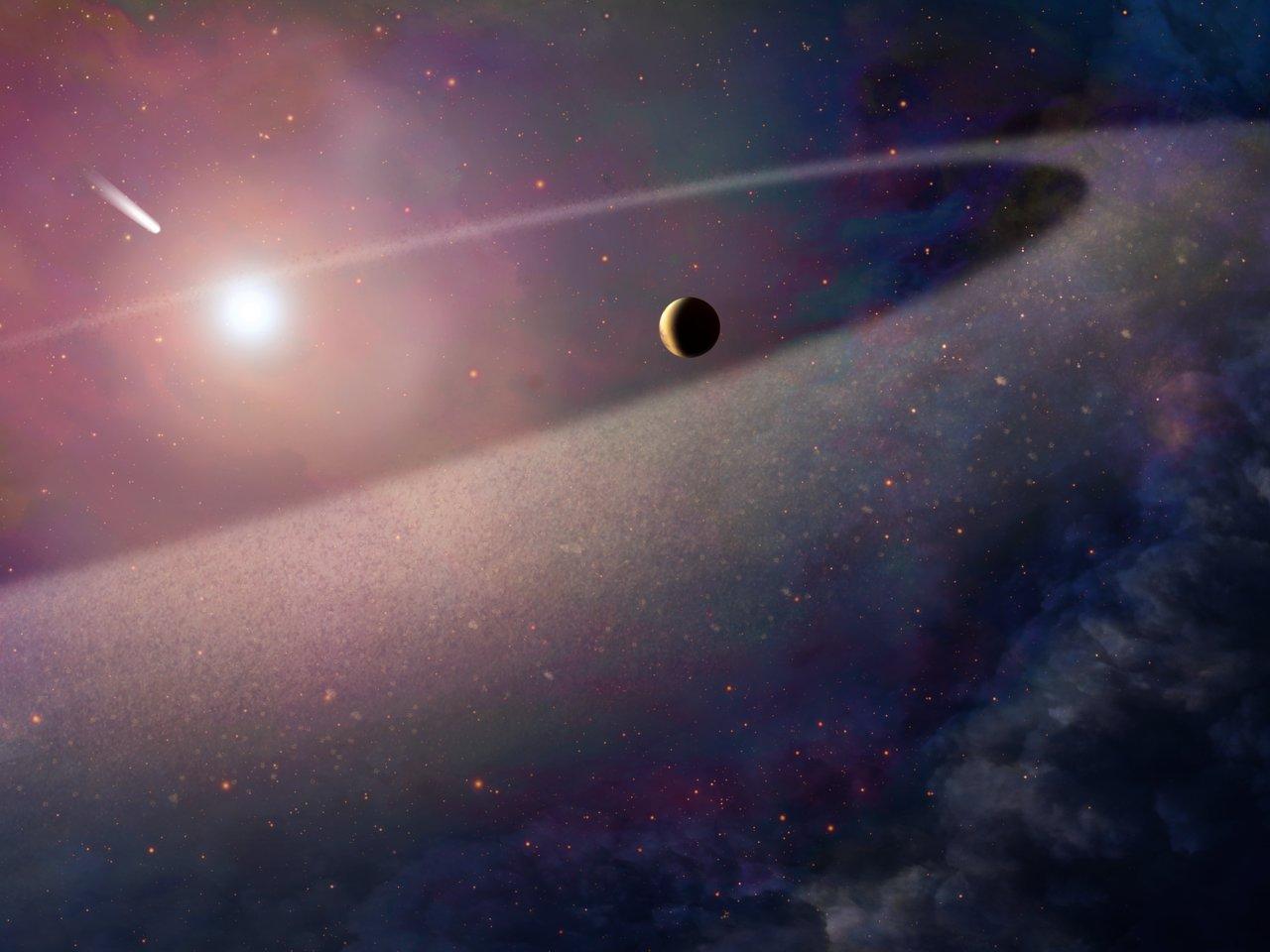 Cometa com Composição Semelhante à do Halley é Destruído em Anã Branca